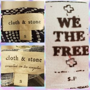 Cloth & Stone and We The Free People Small Tops